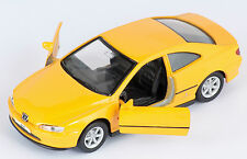 BLITZ VERSAND Peugeot 406 Coupe 1997 gelb yellow Welly Modell Auto 1:34 NEU OVP