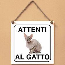 Gatto Peterbald 2 Attenti al gatto Targa gatto cartello ceramic tiles