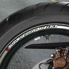 8 x SUZUKI GSR 400 WHEEL RIM STICKERS  DECALS NAKED  B