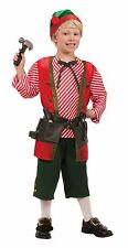 Kids Elf Toy Maker Costume Christmas Toyshop Worker Child Size Small 4-6
