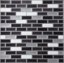 "1 Mosaic Magic Gel Backsplash Wall Tiles - Self Adhesive 9.125"" X 9.125"" grey"