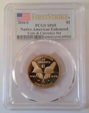2016-S Native American Enhanced Coin and & Currency Code Talkers PCGS SP69 + OGP