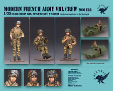 1/35 Scale resin model kit Modern French Army VBL Crew - 2000 Era (3 Figures)
