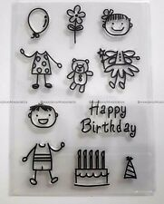Happy Birthday Silicone Transparent Clear Stamp DIY Scrapbooking Decorating
