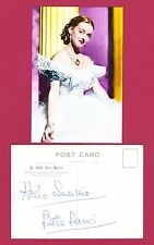 Bette Davis Autograph , Original Hand Signed (Ye Old Bell Hotel) Post Card