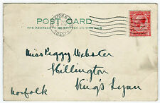 One Penny Postage Revenue Brighton Sussex England UK GB 1928 Post Card  (B2556