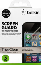 Belkin Screen Guard Transparent Screen Protector for iPhone SE 5 5s 3 Pack