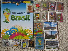 PANINI STICKERS  world cup brasil 2014 ALBUM  +  complete set 640 brazil