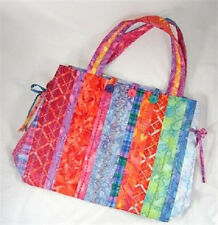 ~ FUN NEW TOTE PATTERN ~ USE PRE QUILTED FABRIC W/ BORDERS ~ 3  PROJECTS ~