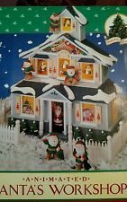 Holiday Classics Animated Musical & Lighted - Santa's Workshop 1992 vintage