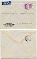 Hong Kong à français Indochine enveloppe de la société de négoce Pays-Bas 50c +10 c 1947