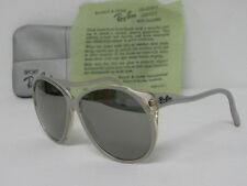 Vintage B&L Ray Ban Christie L9811 Crystal Clear Grey Mirror Sunglasses USA