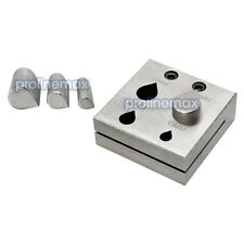 4  PC TEAR DROP Shape Metal Disc Cutter Hole Punch Puncher Goldsmith 10-25mm