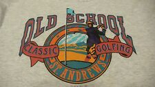 VTG. ST. ANDREWS GOLF COURSE SCOTLAND  BRITISH OPEN GRAY XXL T-SHIRT MADE IN USA