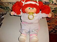 1983-84 Cabbage Patch Kids Doll Xavier Roberts With Pacifier Red Hair Green Eyes
