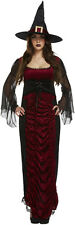 Ruby Sexy Witch Womens Halloween Fancy Dress Costume Outfit Size 12 - 14 P8437