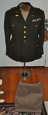 ORIGINAL WW2 US ARMY 3RD ARMORE OFFICERS 4 POCKET JACKET W/ PANTS ~ LARGE SZ 43s