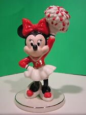 LENOX MOUSEKETEER CHEER MINNIE MOUSE Figure NEW in BOX Disney Mickey cheerleader