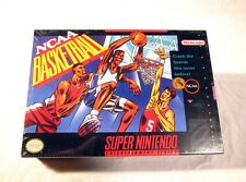 NEW SEALED NCAA Basketball Super Nintendo Video Game 1992 H Seam SNES System