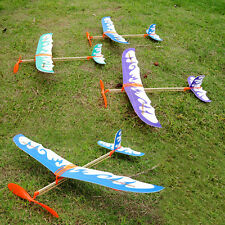 Old Fashioned Rubber Band Plane Aeroplane Model Flying Toy Kit Kid Children Boy