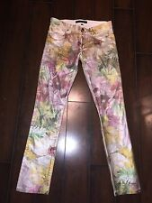 $198 new Juicy Couture tropical floral foil straight jeans size 26 (xs-s)