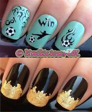 NAIL ART SET 443 WELTMEISTERSCHAFT/PREMIER LEAGUE FUßBALL TRANSFER/STICKER &