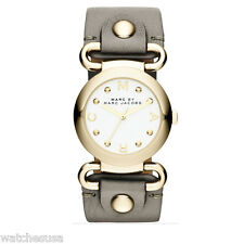 Mark by Marc Jacobs Molly Gold-tone Case Gray Leather Strap Watch MBM1303