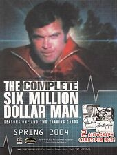 SIX MILLION DOLLAR MAN THE COMPLETE 2004 RITTENHOUSE PROMOTIONAL SALE SELL SHEET