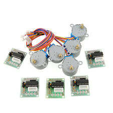 5pcs 5V Stepper Motor 28BYJ-48 + ULN2003 Driver Test Module Board for Arduino