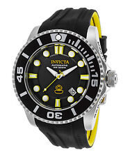 Invicta 20199 Men's Pro Diver Grand Diver Auto Black & Yellow Silicone Black