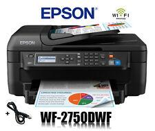 EPSON WorkForce WF-2750DWF 4-in-1 MULTIFUNKTIONS DRUCKER WIFI WLAN * NEU *