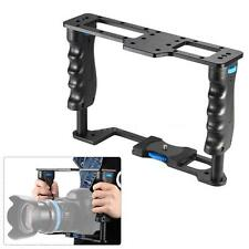 DSLR Video Camera Cage Stabilizer Rig with Handle Grip for Canon Nikon Sony X0K8