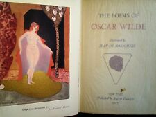 The Poems of Oscar Wild, Illus. by Jean Bosschere, #1923 of 2000 limited ed 1927