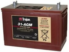 BATTERY TROJAN 31-AGM 12V 100AH AGM GRP 31 DEEP CYCLE  DUAL TERMINAL EACH