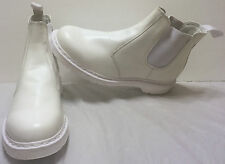 Doc Marten Dr Martens White Chelsea Boots Size US 14 UK 13 Air Wait Bouncing