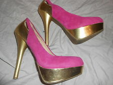 From the USA  Bamboo pink and gold high heeled  shoes size Eur 38 US 8 8m UK 5