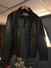 GORGEOUS ANDREW MARC LEATHER Brown Bomber Jacket SIZE XXL Top Gun! Pristine!!