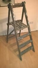 PINE STEP LIBRARY LADDER VINTAGE GARDEN TOWEL POT RAIL SHOP DISPLAY SHABBY CHIC