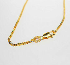 """Wholesale 1X 24"""" 18K Jewelry Yellow GOLD Filled Box CHAINS NECKLACE For Pendants"""