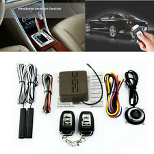 Car Alarm System PKE Keyless Entry Push Button Engine Ignition Start W/ Remote