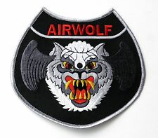 USAF US AIR FORCE AIRWOLF WOLF LARGE EMBROIDERED PATCH 5 INCHES