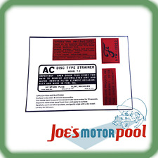 Ford GPW Engine Decal Set