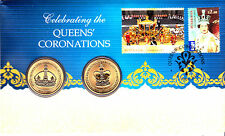 2013 $1 ONE DOLLAR COIN - ROYALITY - THE QUEENS CORONATIONS STAMP & COIN UNC