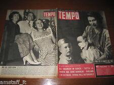 RIVISTA TEMPO 1950/38=MARGARETH=MIMI DEDART=CARLO DAPPORTO=
