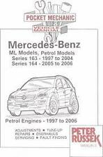 MERCEDES POCKET MECHANIC CAR MANUAL  PETER RUSSEK ML PETROL SERIES 163 164