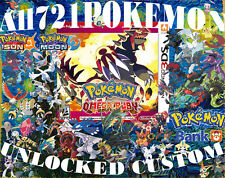 Pokemon Omega Ruby All 721 Unlocked Shiny Legal Legit Max Items MegaStones 3DS