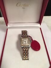 Cartier Panthere Two Tone Watch 18k Gold Women's