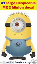N1 LARGE Despicable me 2 minions Funny Decal sticker car vw van jdm kids bedroom