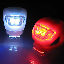 Hot Bike Cycling Frog Light Set 2 LED White Front Light + 2 LED Red Rear Light
