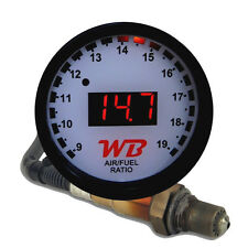 APSX V2 Anti-Glare D2 Digital Wideband O2 AFR Gauge & Sensor Kit White & Red LED
